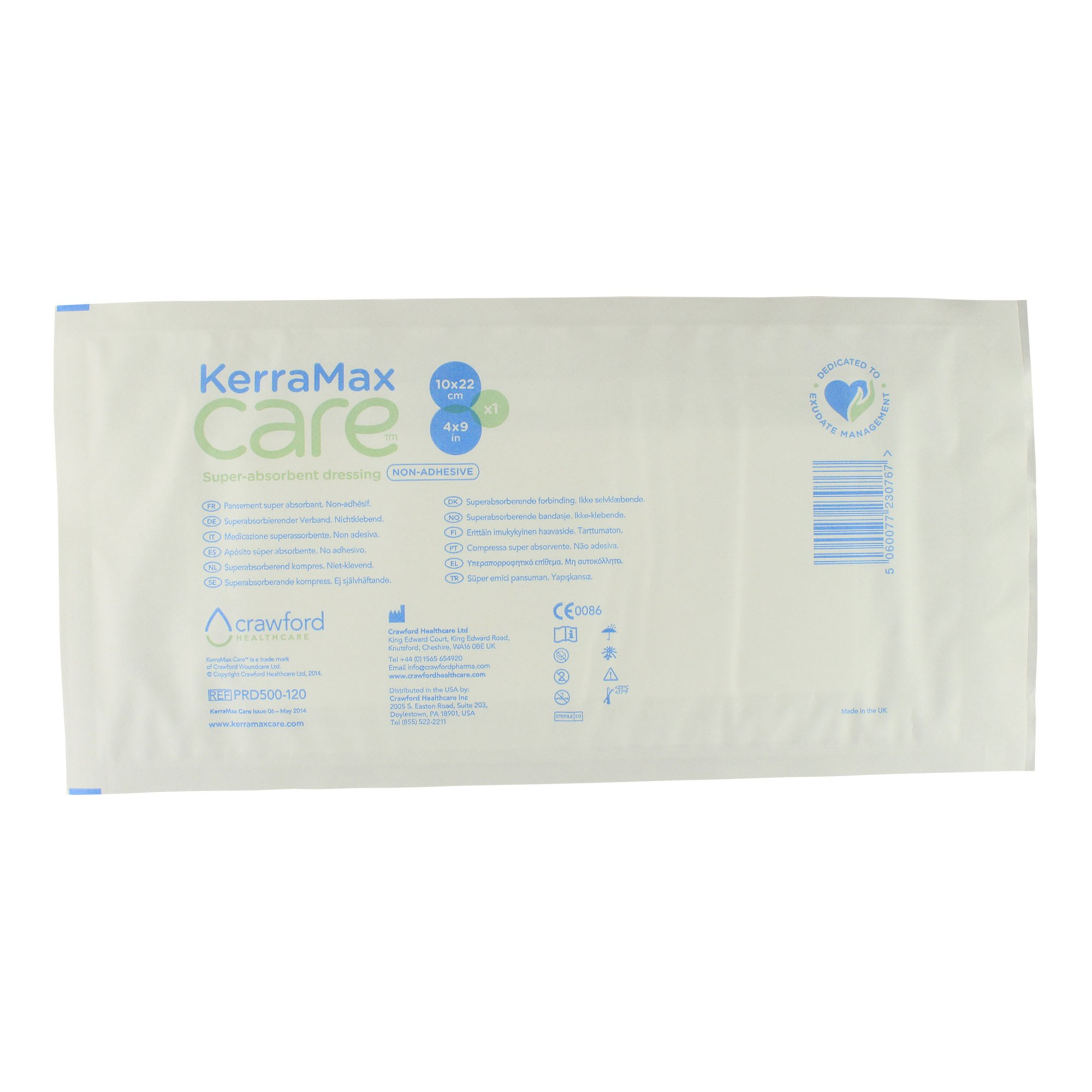 KerraMax Care 4''x9'' Super Absorbent Wound Dressing (PRD500-120) – Absorbs Exudate and Isolates it, Preventing Leaks or Drips for Improved Patient Comfort and Wound Care Treatment (1 Each)