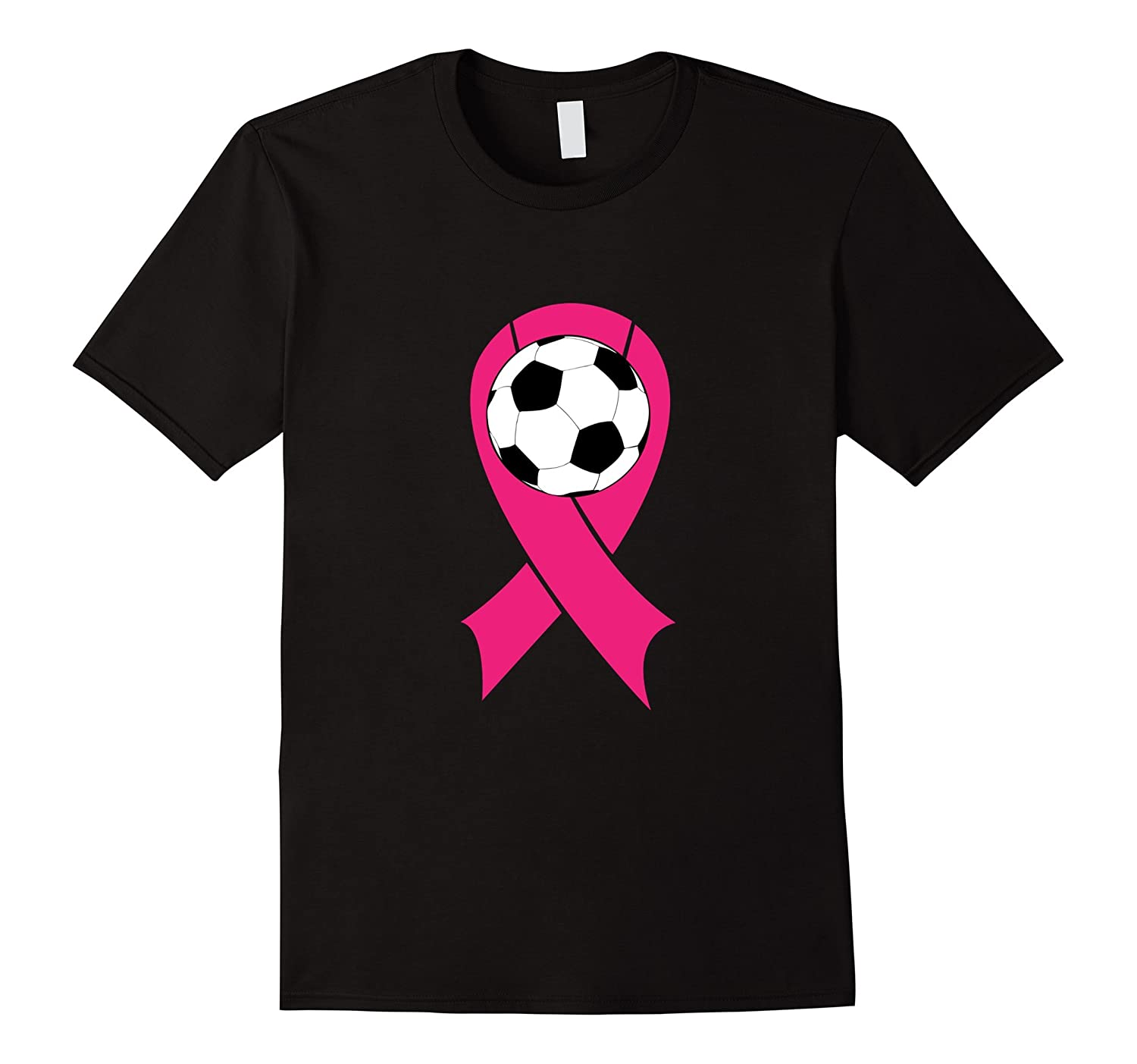 Breast Cancer Awareness Pink Ribbon Soccer Ball Team Shirt-T-Shirt