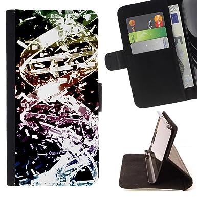 Momo - Teléfono móvil/Cartera de piel cubierta de la caja con ...