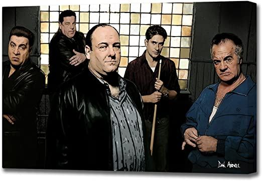 The Sopranos Poster 13x19 Fine Art Canvas Color Print