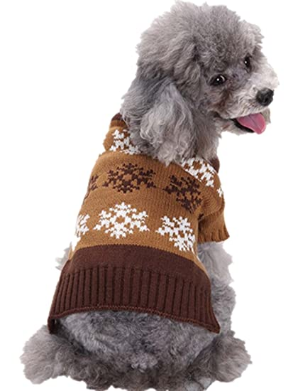 51a04e52a70 Amazon.com: Sunward Pet Round Argyle Designer Dog Sweater, Pack of 1 Clothes  for Small Dogs: Clothing