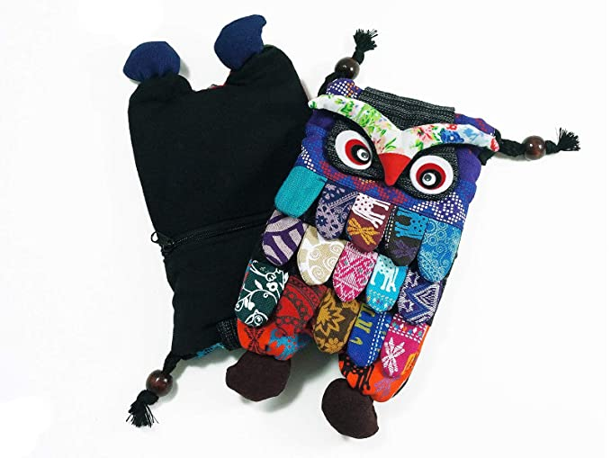 dce98057a59b Image Unavailable. Image not available for. Color  Owl Crossbody Bags  Adorable Patchwork Small