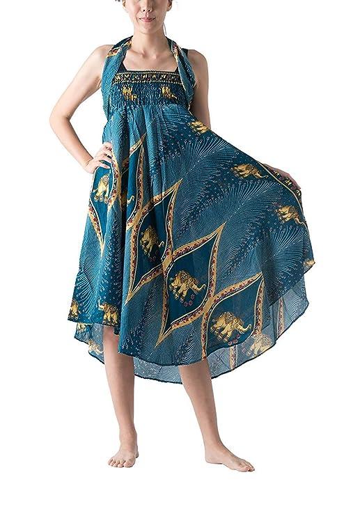 LotteQW falda larga hippie bohemia gitana con flores y cintura ...