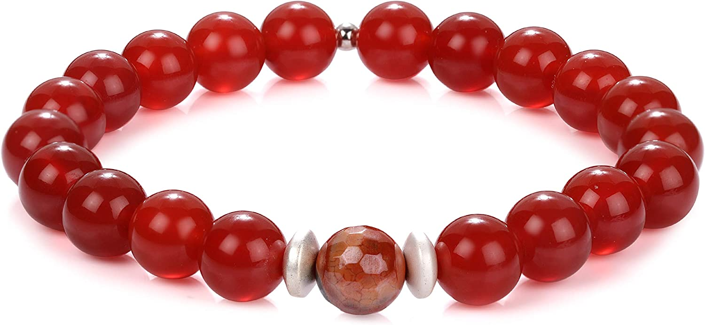 women/'s jewelry agate bracelet  gemstone bead bracelets beaded jewelry Mixed Agate Beaded Bracelet gift for her beaded bracelets