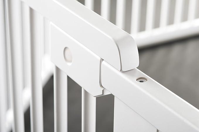 4a7f71249c5c48 ONE4all 1+1 - Barrière de sécurité modulable, barrière d escalier et  barrière pour porte (blanc)  Amazon.fr  Bébés   Puériculture