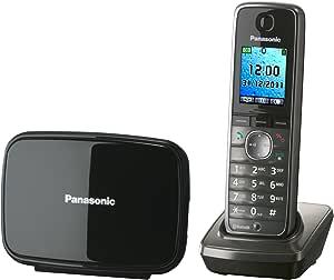 Panasonic KX-TG8611 - Teléfono fijo inalámbrico Bluetooth, color negro: Amazon.es: Electrónica