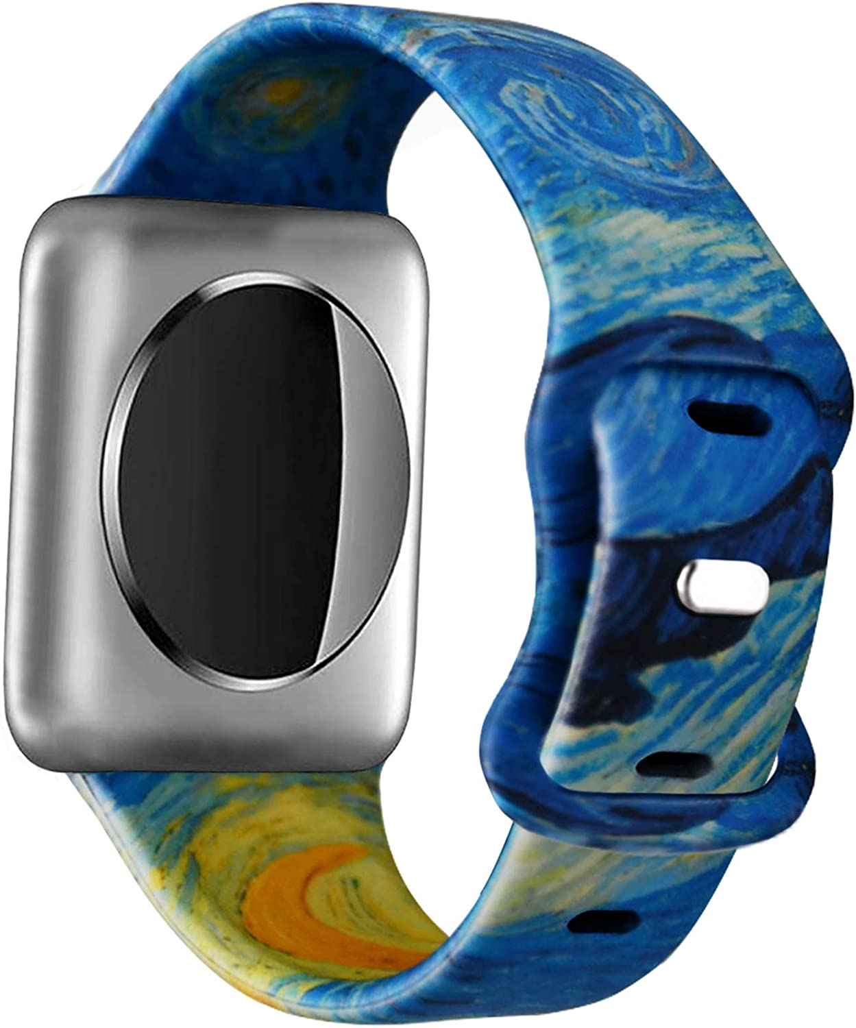 Idealiveny Silicone Band Compatible with iWatch Band 38mm 40mm 42mm 44mm Women Sports Strap Rubber Replacement for Iwatch Band Series 5 4 3 2 1 Double Side Print
