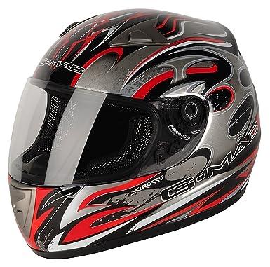 G-Mac 108137XS06 Scirocco Casco Moto, Color Negro y Rojo, Talla XS