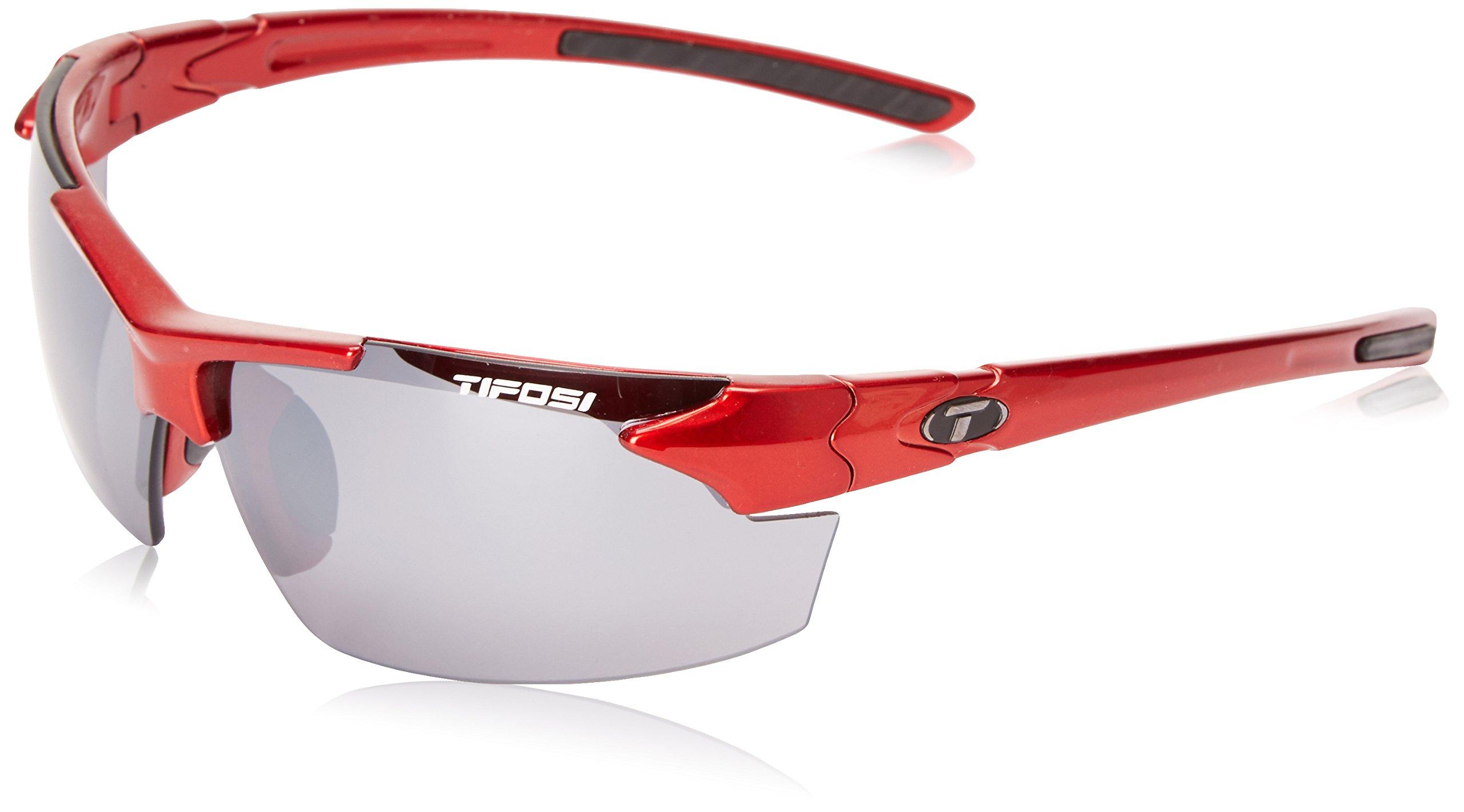 Tifosi Jet FC 1140402770 Wrap Sunglasses, Metallic Red, 70 mm