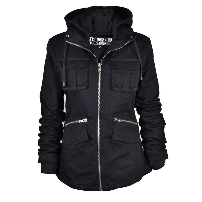 Ladies Bella Zip Up Hooded Jacket Coat