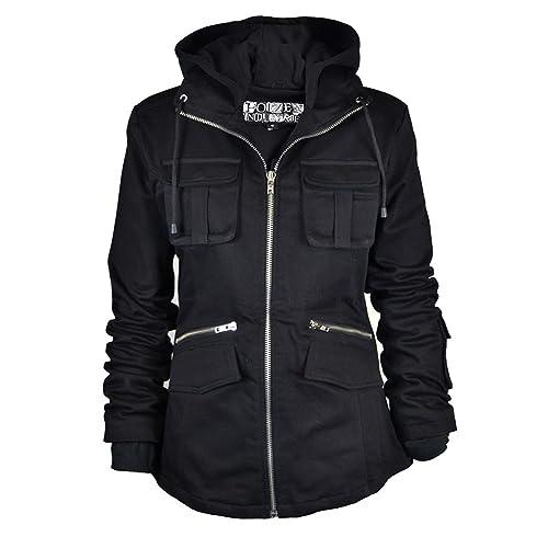 Ladies Bella Zip Up con capucha perchero de pared de chaqueta