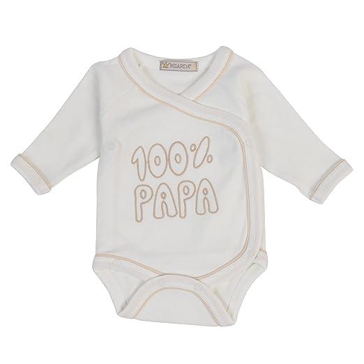 "50-74 Gr Milarda Baby Body Wickelbody /""100/% PAPA/"" creme-gold"