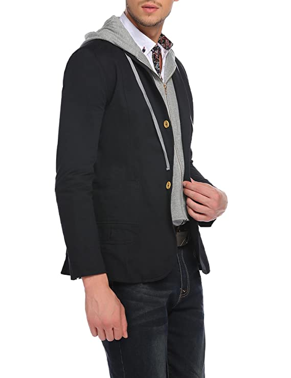COOFANDY Men's Casual Jacket Stylish Slim Fit Sports Coat Suit ...