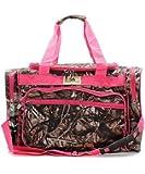 "BNB Natural Camouflage Canvas Lightweight 20"" Duffel Bag Pink (Hot Pink)"