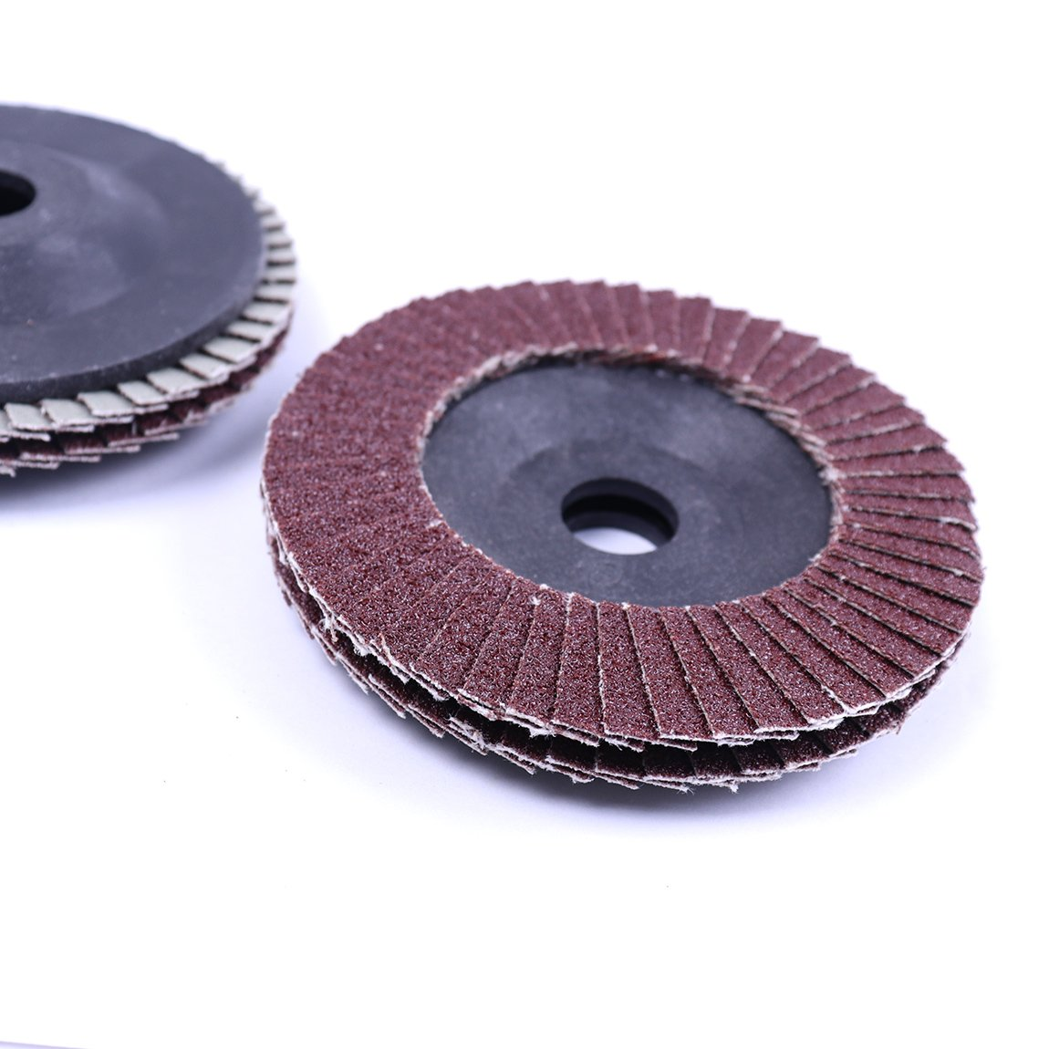 Atoplee 10pcs Quick Change Grit 80# 4 Inch Angle Grinder Polishing Sanding Flap Disc Wheel Deburring