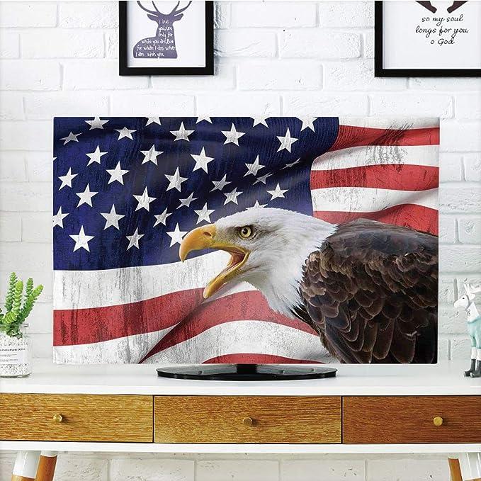 Funda para televisor LCD, bandera estadounidense, bandera de Bless ...