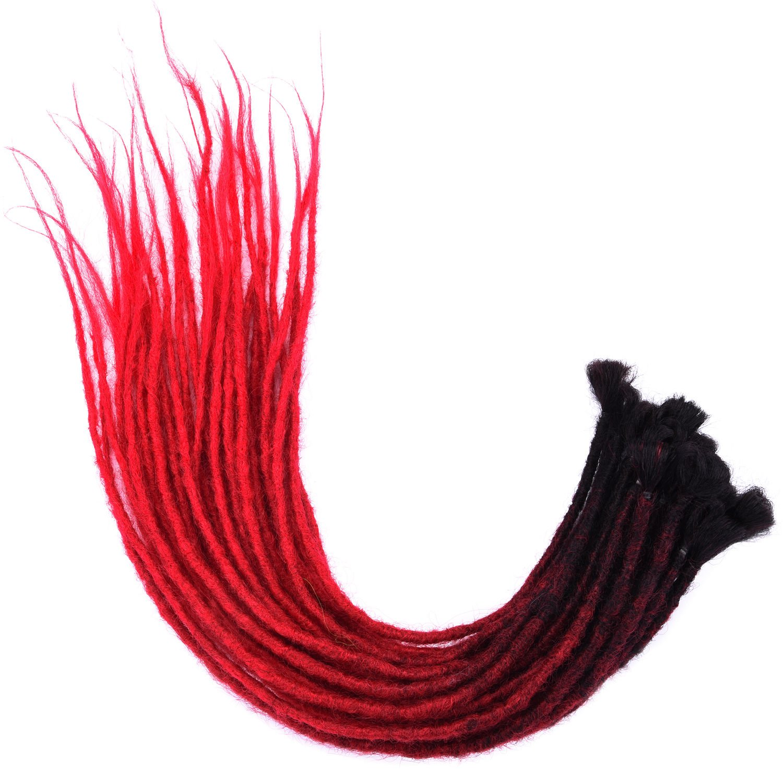 Silike New Handmade Dread Lock Crochet Hair(6-8 g/Root 4 Roots/Pack) New Material Dreadlock Crochet Braids Synthetic Braiding Hair Extension (CDR24)