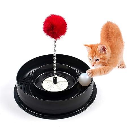 Roamwild 4 EN 1 Juguete para Jugar al tazón del Gato silencioso ...