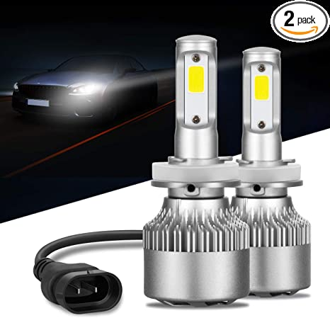 6000K Xenon R2 2pcs LED headlight bulb 72W 7200LM LED headlight conversion kit