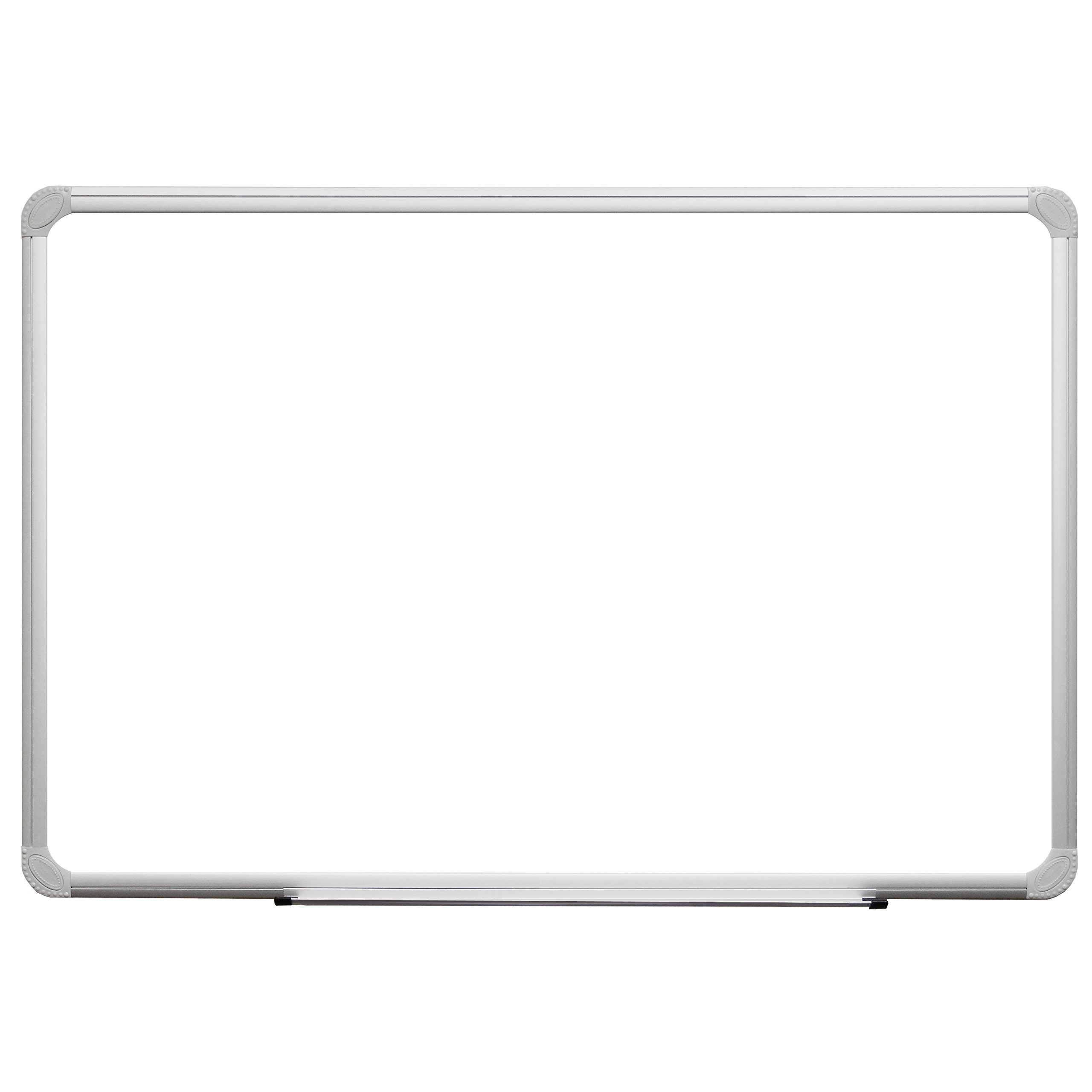 36 x 24 White Melamine Dry Erase Board with Aluminum Frame and Marker Tray