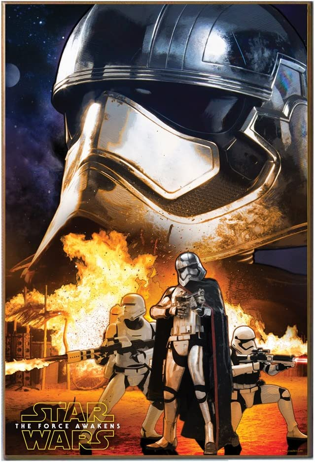 Silver Buffalo Se0536 Disney Star Wars Ep7 Captain Phasma Poster Wood Wall Art 13 X 19 Inches Posters Prints