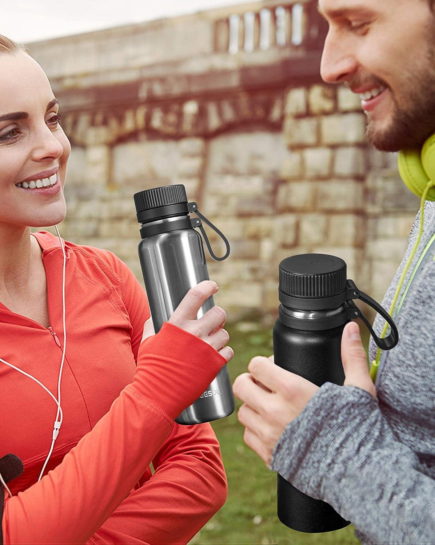 500//700//1000 ml entrenamiento acero inoxidable doble pared ARTEESOL botella de agua senderismo campamento y oficina a prueba de fugas gimnasio dise/ño de boca ancha respetuoso con el medio ambiente y libre de BPA para deportes al aire libre