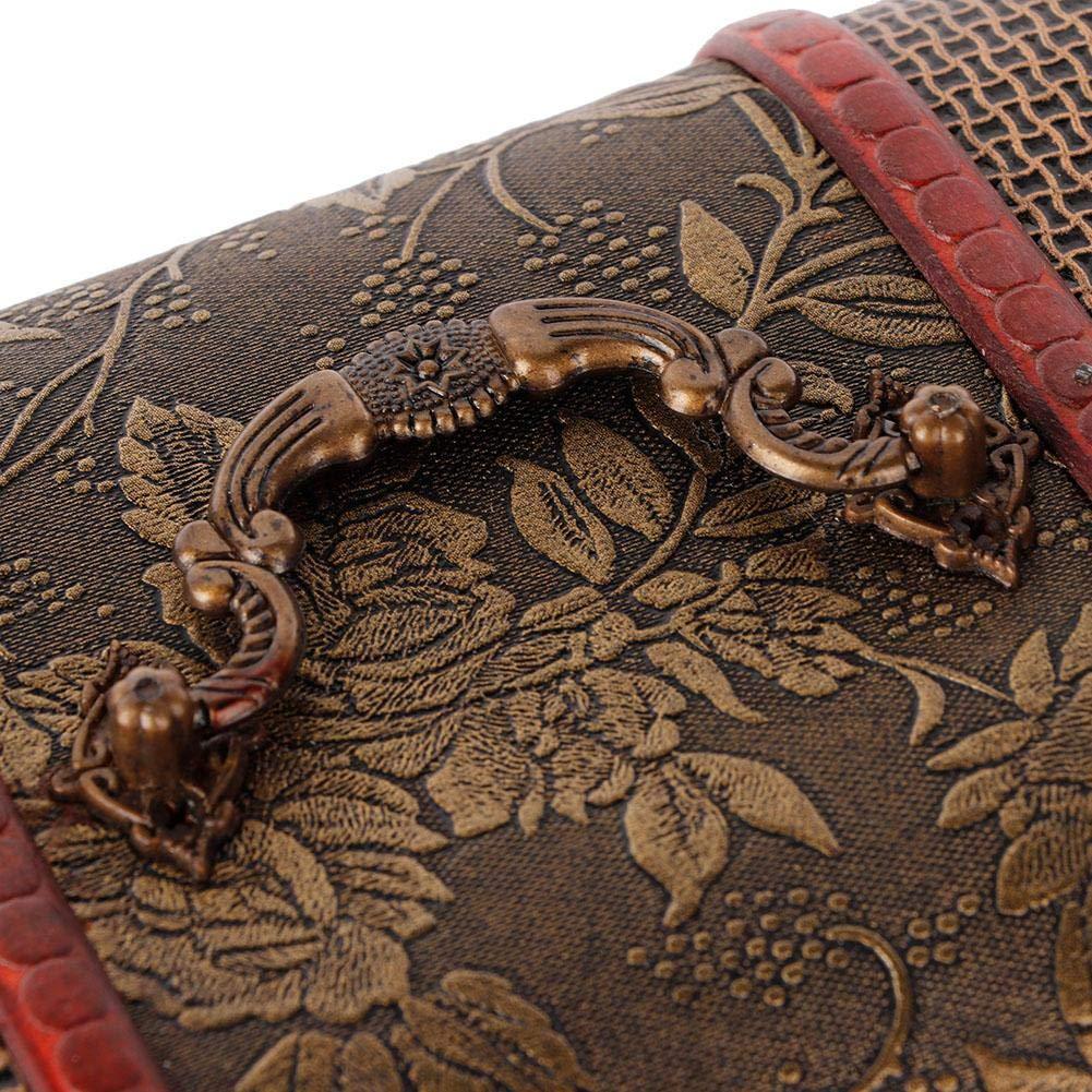 Grande Taille Pongnas Bo/îte /à Bijoux en Bois avec Serrure /à Code et Bague de Rangement pour Collier de Bijoux