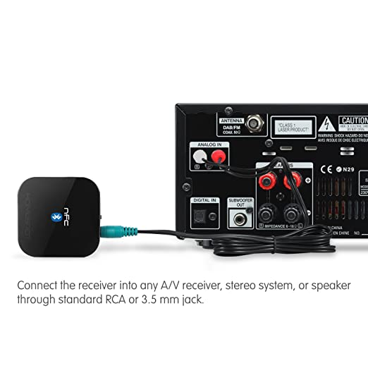 sound system receiver. amazon.com: homespot nfc-enabled bluetooth audio receiver for sound system: home \u0026 theater system