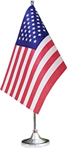 tibijoy Small Mini American Desk Flag Stand,USA Table Flags Holder,Miniature Desktop Flags,for Home Garden Office Decoration,Festival Events Celebration,Home Decoration,Office Decoration
