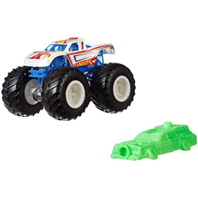 Hot Wheels GJY22 Monster Trucks 1:64 Racing #1 Vehicle, Multicolour: Toys & Games
