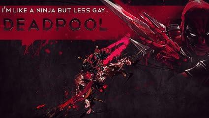 Deadpool Ninja Kick Ass Playmat + Free Small Size Sleeves 75 Count