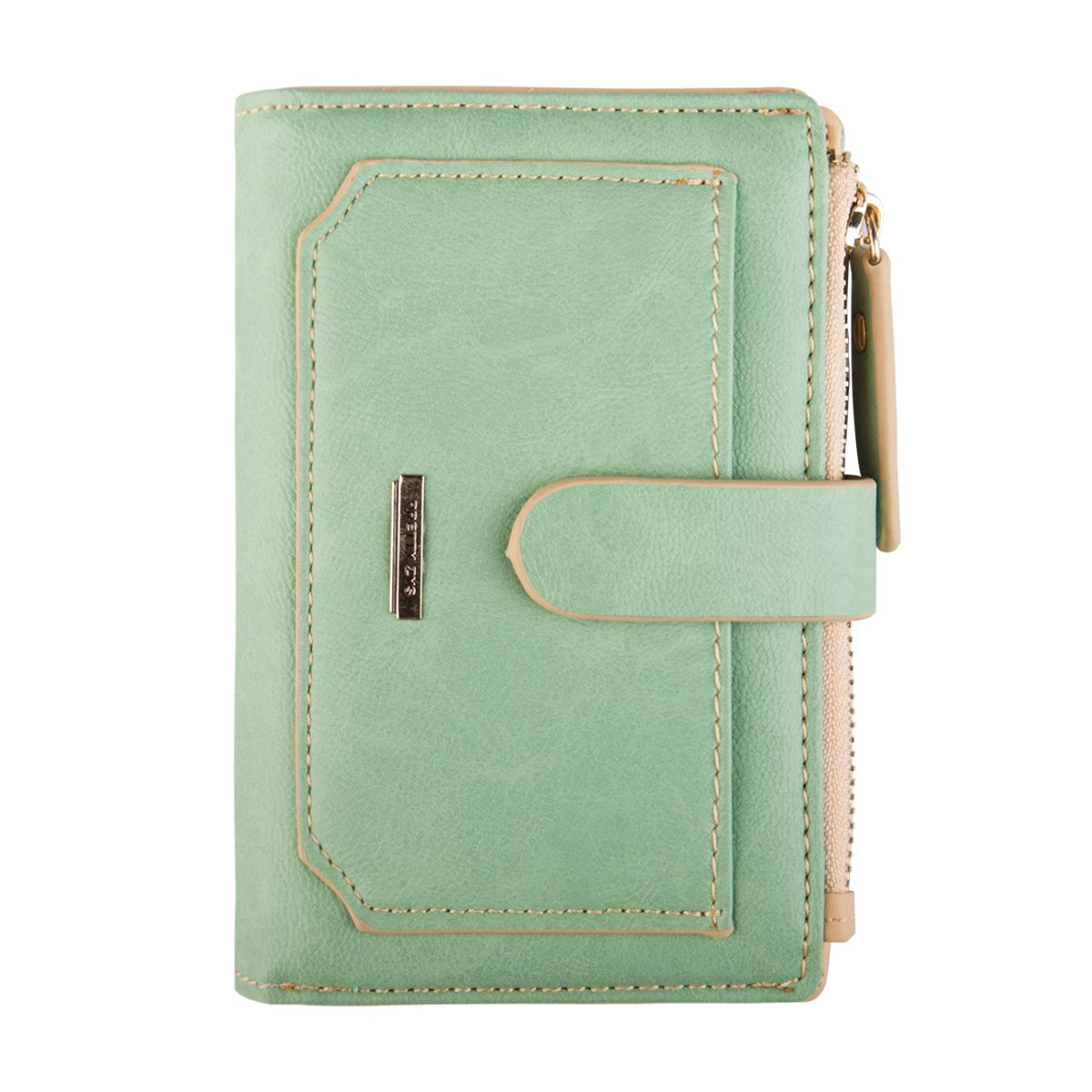 INDRESSME Womens Wallet Candy Color Bifold Mini Vintage Card Holder Compact Wallet for Women Lime by INDRESSME