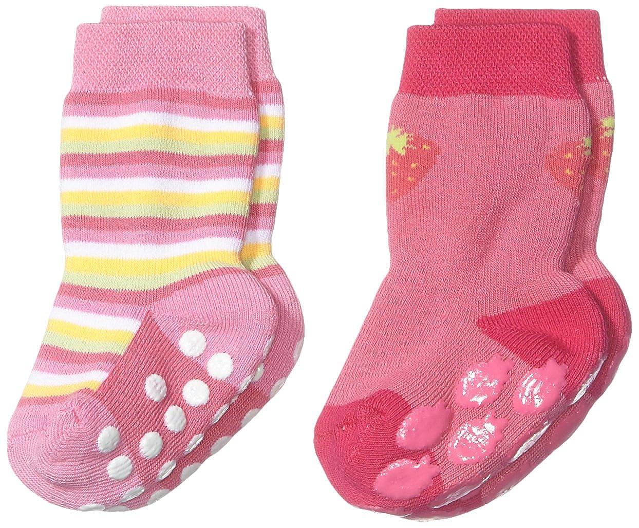 Twins Baby - Mädchen ABS Socken im 2er Pack Rosa (pink 230) Julius Hüpeden GmbH 029121