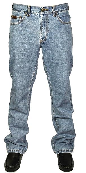Farah Mens BNWT Latest Denim Jeans Straight Leg in Dark Blue Sizes 30 46