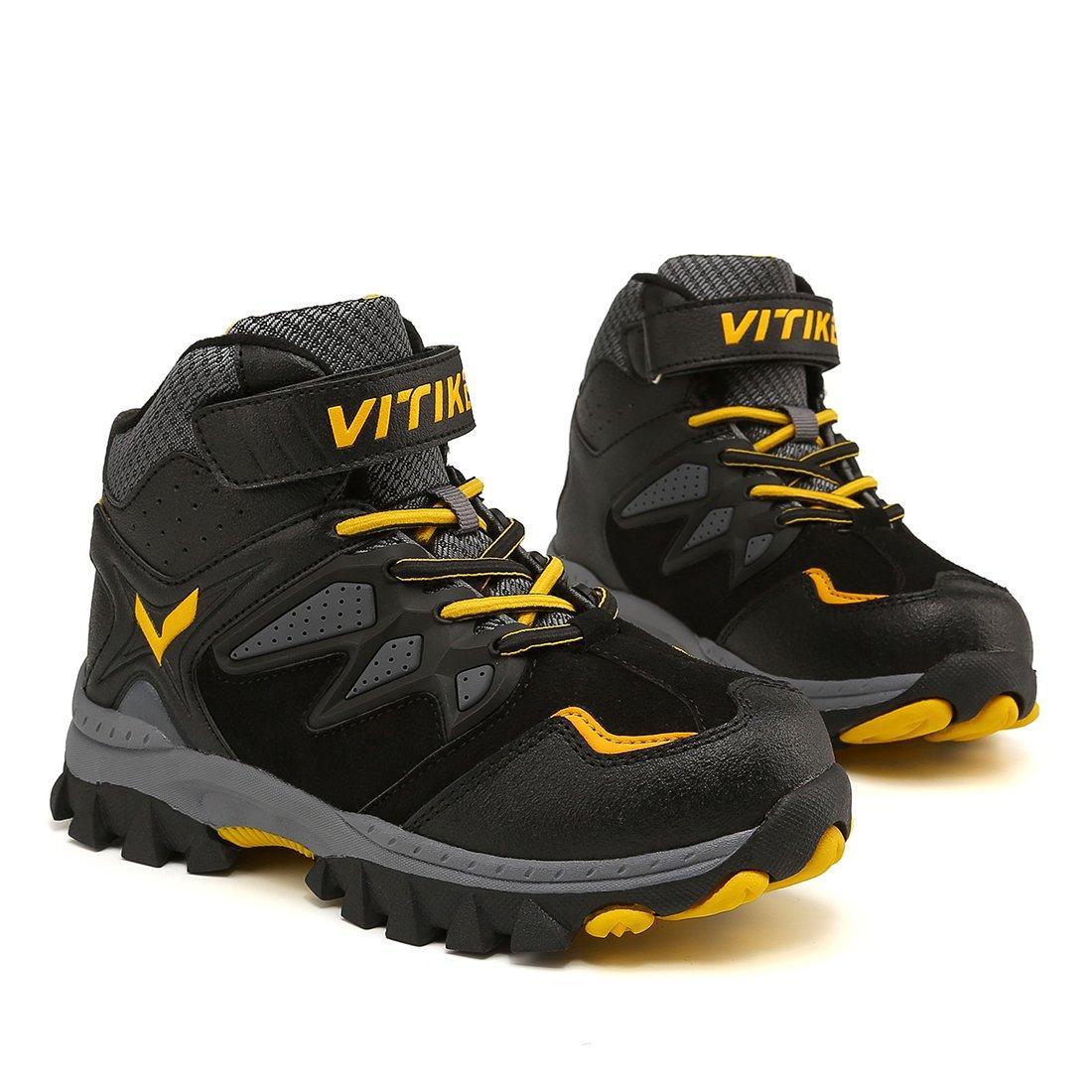 Boots Boys Winter Snow Sneakers Girls Hiking Trekking Outdoor Shoes Youth Big Little Kids Waterproof Non-Slip Steel Buckle by WETIKE (Image #5)