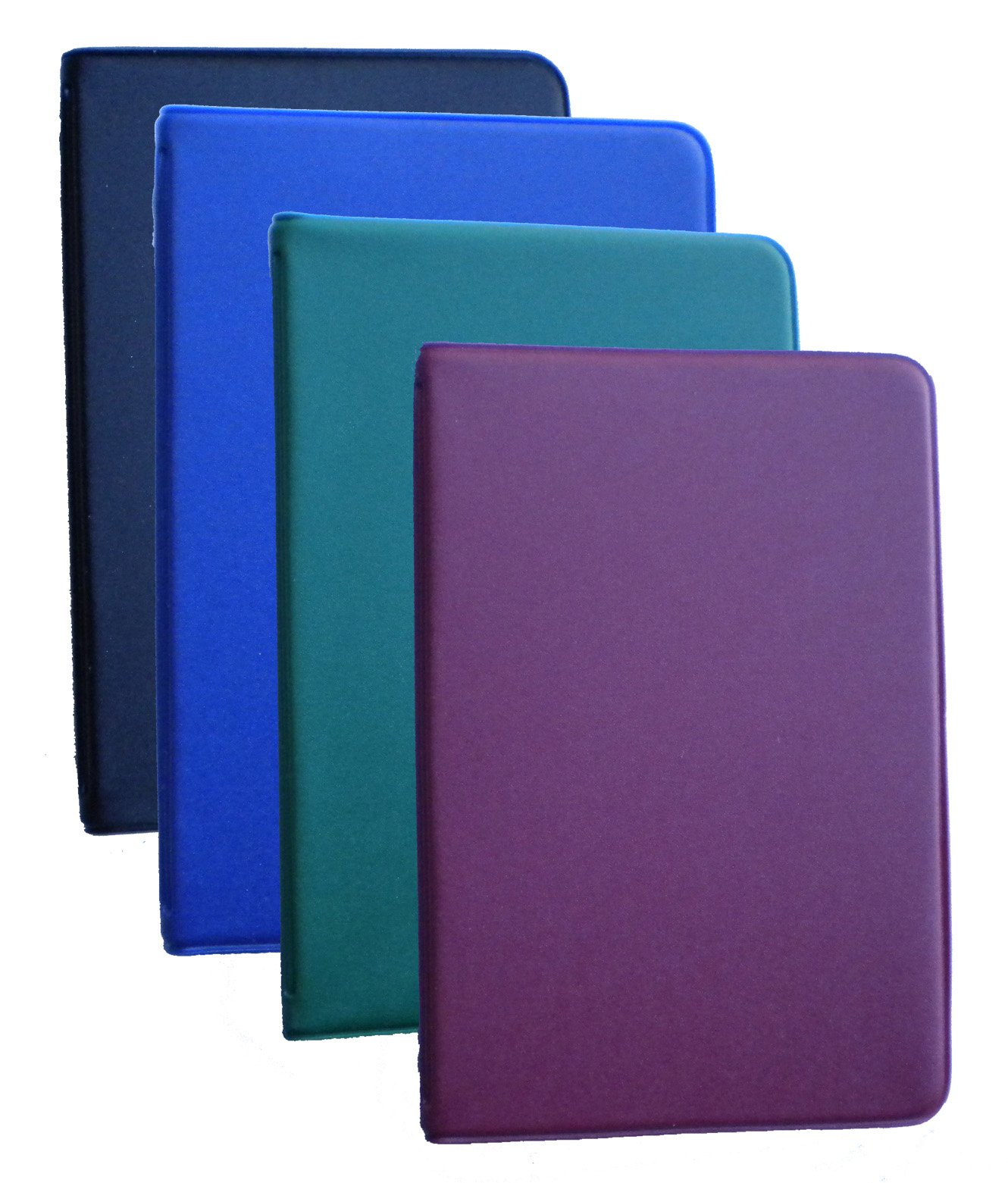 Mead (46000) Four Different Colored Mini 6-Ring Memo Books, Each Containing 3 x 5 inch Lined Paper by Mead