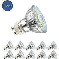 10 X Sanlumia 5W GU10 LED Super Bright Spotlight Bulb 450lm 120 Degree Beam Angle Non Dimmable 50W Halogen Equivalen Cool White 6400K
