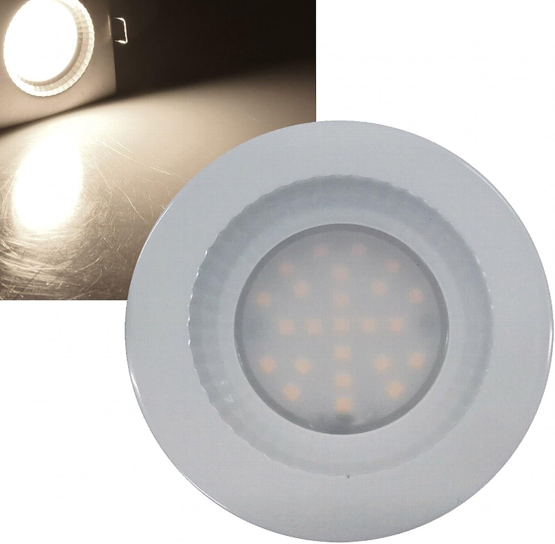 LED Badeinbaustrahler 230V Flach IP54 LED Einbauleuchte Poseidon 8 x 5W Deckenspot Edelstahl geb 3000K 40mm Einbautiefe