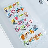 BeeHomee Alfombrilla antideslizante para bañera de dibujos animados para niños – 88 x 40 cm XL de tamaño grande…