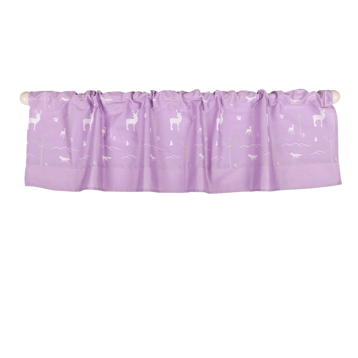 Purple Woodland Tailored Window Valance by The Peanut Shell - 100% Cotton Farallon Brands WVWDPLPL