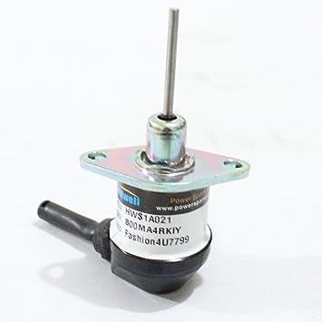 Holdwell Solenoide de parada de combustible 1 A021 – 60015 12 V para KUBOTA V2003 V2203