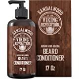 Beard Conditioner w/Argan & Jojoba Oils - Softens & Strengthens - Sandalwood Scent - Beard Conditioner w/Beard Oil (17oz Cond