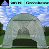 Greenhouse 26'x12' - Large Heavy Duty Green House Hothouse Walk in - 170 Pounds By DELTA Canopies