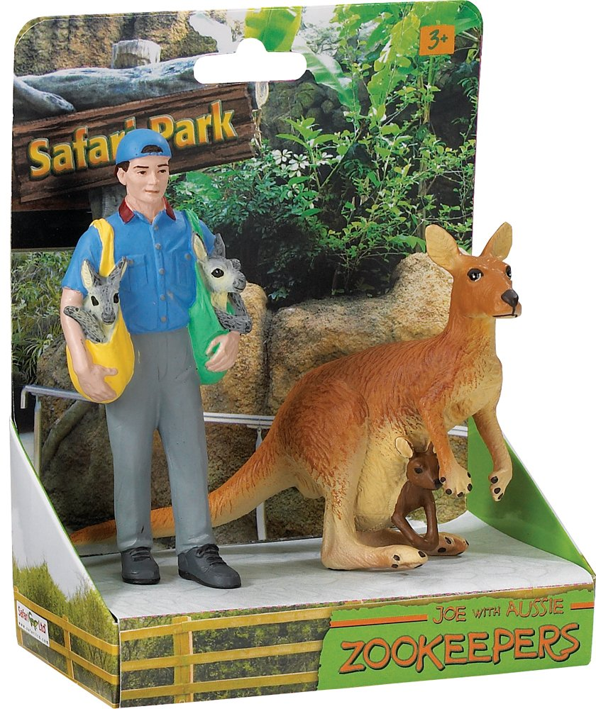 Safari Ltd Safari Land Joe and Aussie Zookeeper 223629 SF223629