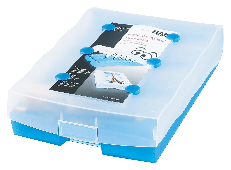 Han CROCO 2-6-19 Schede Flash A8, tra cui 100 carte, 19 scatole e 1 matita, blu traslucido. HAN-Bürogeräte 9988-643 Übungsmaterial) Schulbücher / Sonstiges