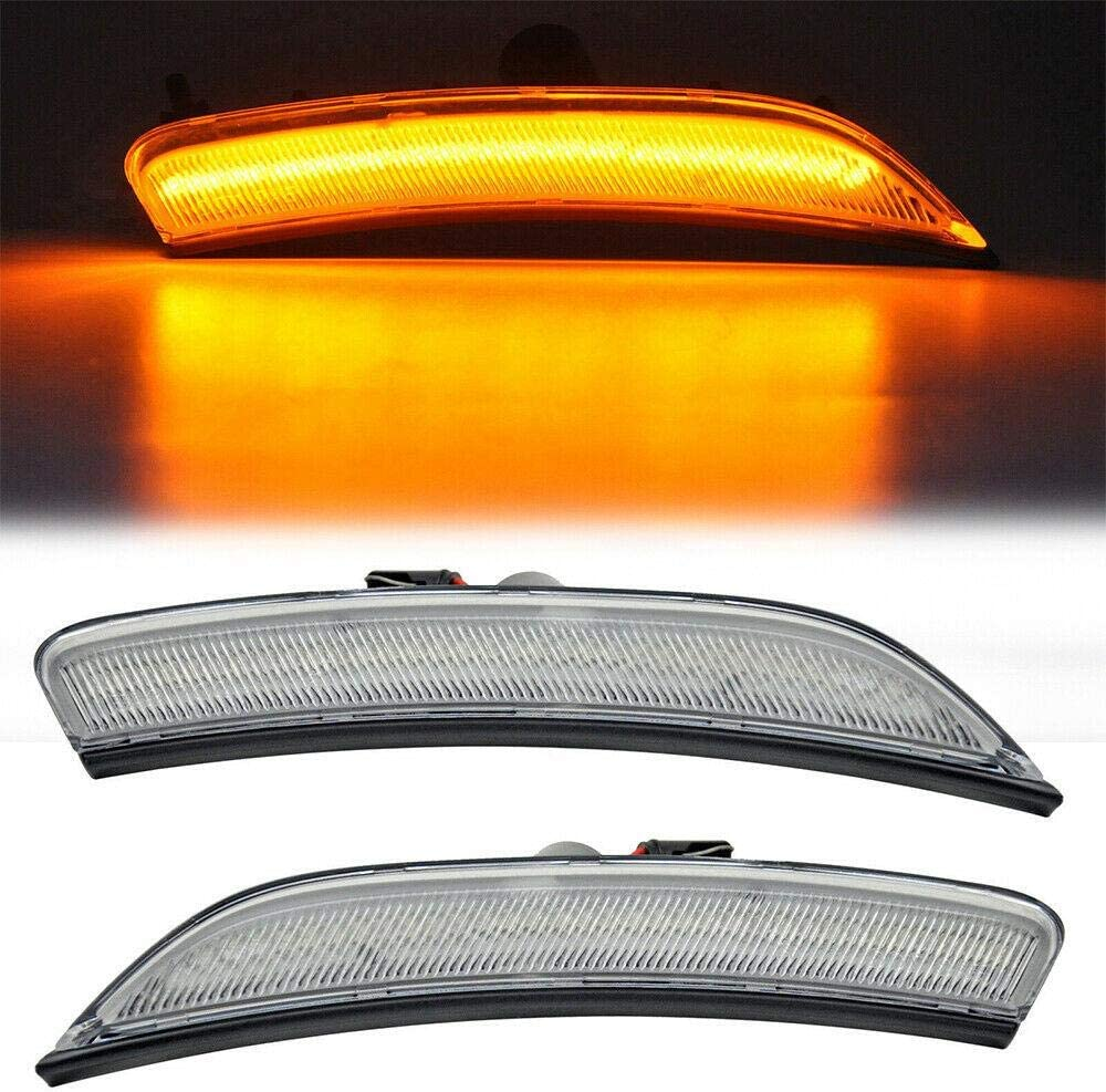 Overun Signature Front Bumper Amber LED Replacement Lamp Housing Signal Clear Lens Designed for Chrsyler 200 Year 2015-2017