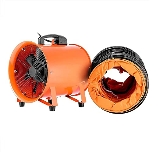 TOTOOL Ventilator Blower 12 Potable Industrial Utility Fan High Velocity Blower Fan Ventilator Fume Extractor with Duct Hose 12 with 5m Duct Hose