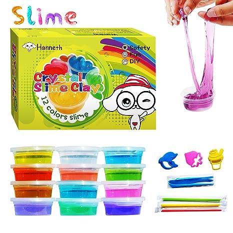 Amazon haniex magic crystal soft slime toy 12 colors 1 pack haniex magic crystal soft slime toy 12 colors 1 pack ccuart Gallery