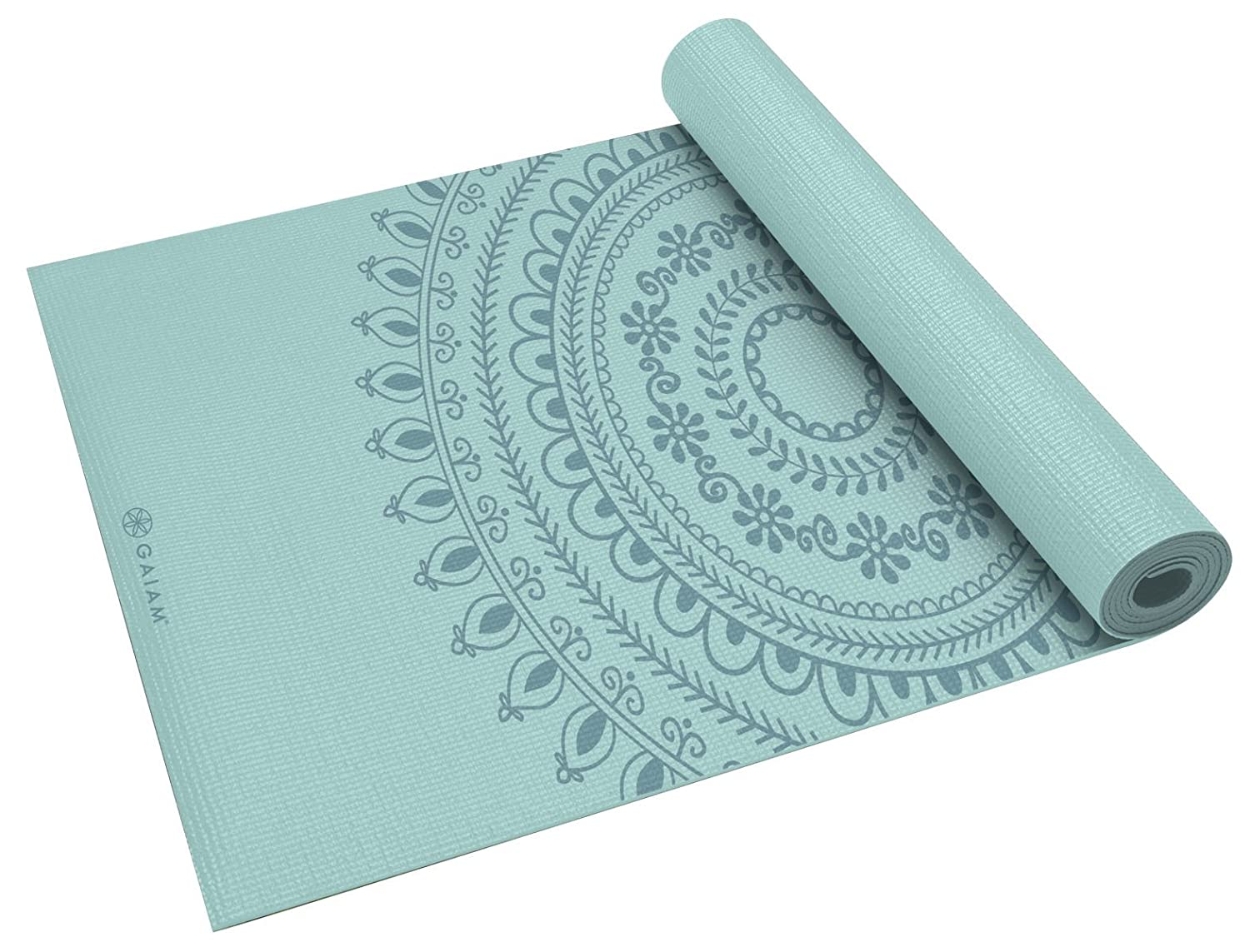 Gaiam Yoga Mat – Premium 6mm Print Extra Thick Exercise Fitness Mat for All Types of Yoga, Pilates Floor Exercises 68 x 24 x 6mm Thick