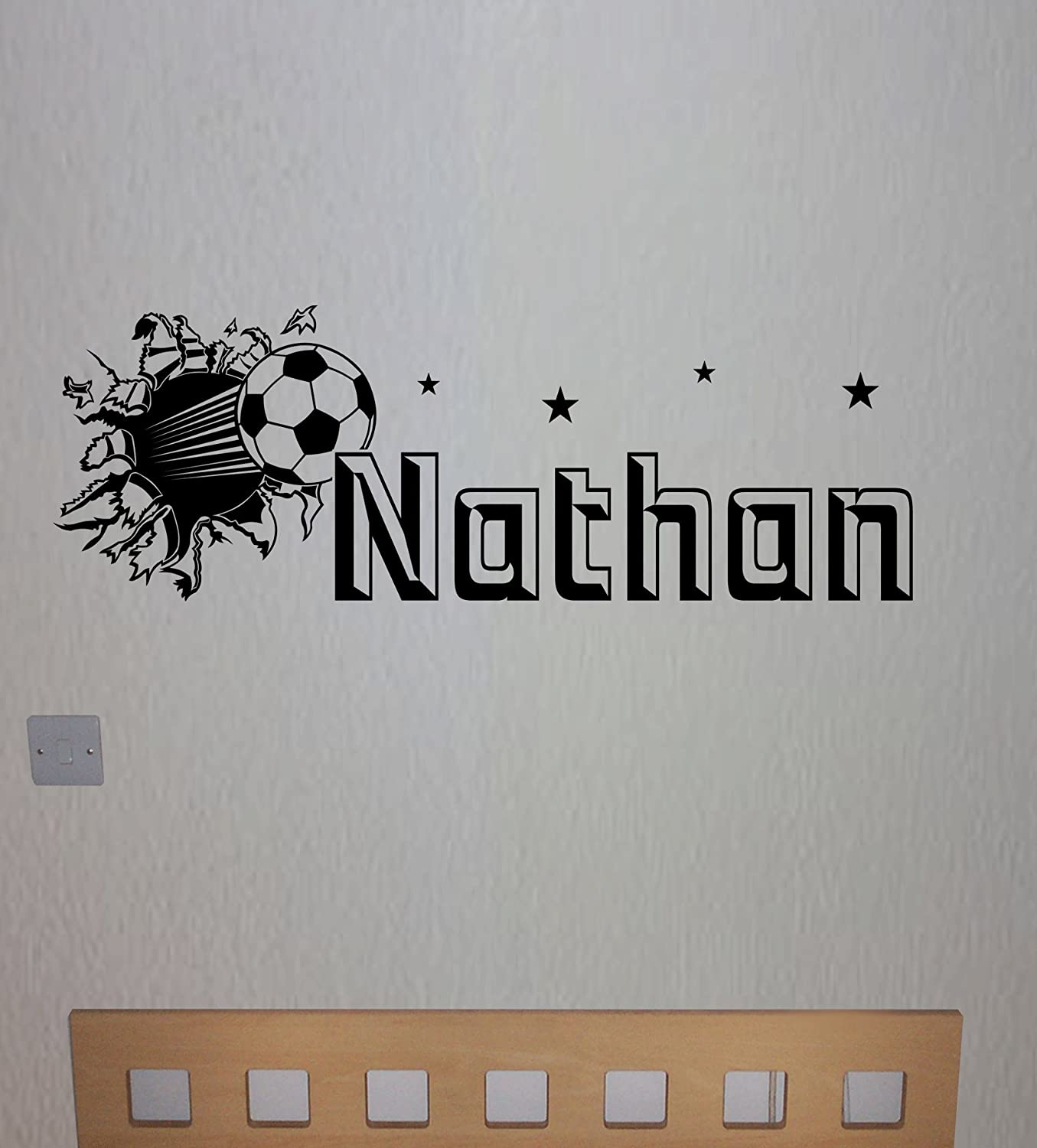 personalised football wall sticker any name any colour childs personalised football wall sticker any name any colour childs bedroom amazon co uk kitchen home